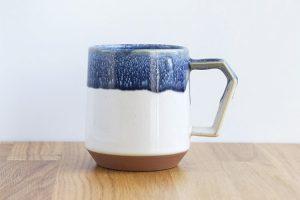 Chips Mug. Premium WhiteNavy Drop