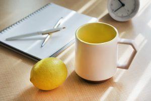 Chips Mug. White-Yellow