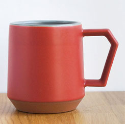 Chips Mug Two-Tone Red-Gray