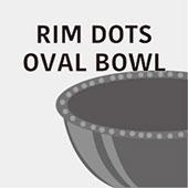 リムドットオーバルボウル Rim Dots Oval Bowl