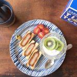 【スタッフのBlog】しましまのお皿にカツサンド。
