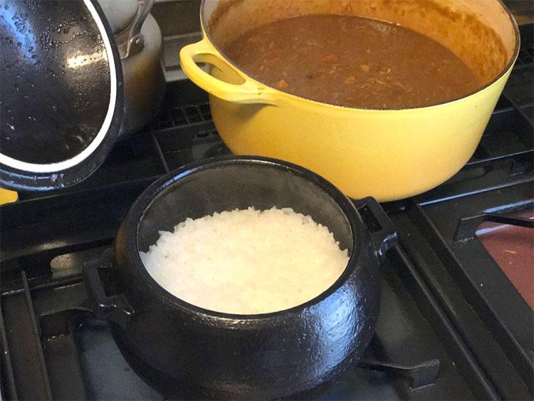 土鍋で作ったごはん