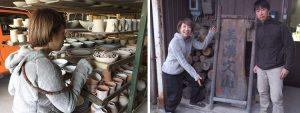 美濃地方で未央さんと陶器の打ち合わせ中です