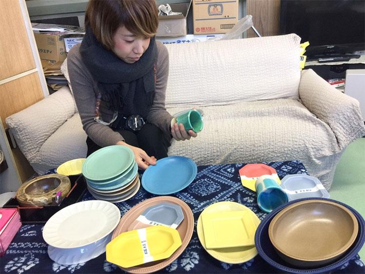 美濃地方で未央さんと陶器の打ち合わせ中です Day2