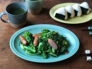菜の花のペペロンチーノ炒め
