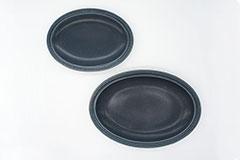 Rim Dots Oval Plate Navy - リムドット オーバルプレート ネイビー