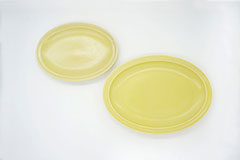 Rim Dots Oval Plate Yellow - リムドット オーバルプレート イエロー