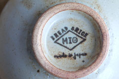 Circle Pottery Rice Bowl まるい縁取りの陶器 ライスボウル 裏印