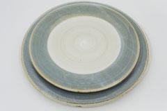 Circle Pottery Plate M & L まるい縁取りの陶器 プレート M&L