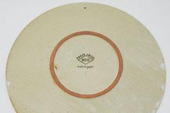 Circle Pottery Plate M & L まるい縁取りの陶器 プレート M&L 裏印