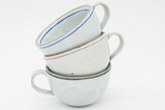 Line Pottery 一本線の白い器 スープマグ