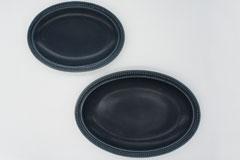 リムドット オーバルプレート Rim Dots Oval Plate ネイビー