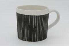 Sgraffito Pottery Mug Cup 掻き落としの陶器 マグカップ