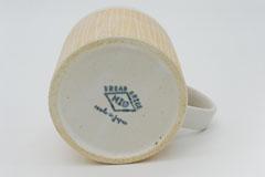 Sgraffito Pottery Mug Cup 掻き落としの陶器 マグカップ 裏印