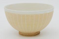Sgraffito Pottery Rice Bowl 掻き落としの陶器 ライスボウル