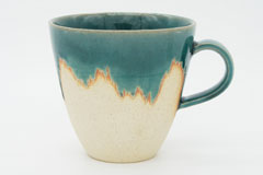 Turky Blue Pottery Mug Cup 艶トルコ釉の器 マグカップ