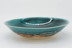 Turky Blue Pottery Bowl 艶トルコ釉の器 ボウル