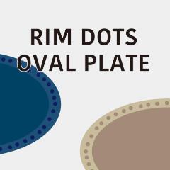リムドット オーバルプレート Rim Dots Oval Plate