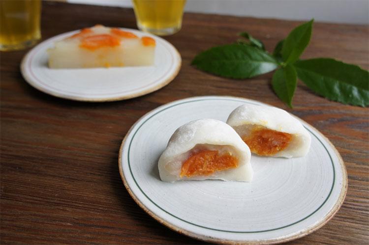 大角玉屋の「杏大福」と「杏水無月」