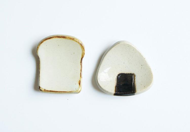 限定パンとごはんとの箸置き