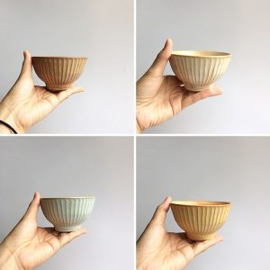 しのぎの茶碗