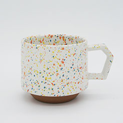 Chips Stack Mug Splash White-Orange