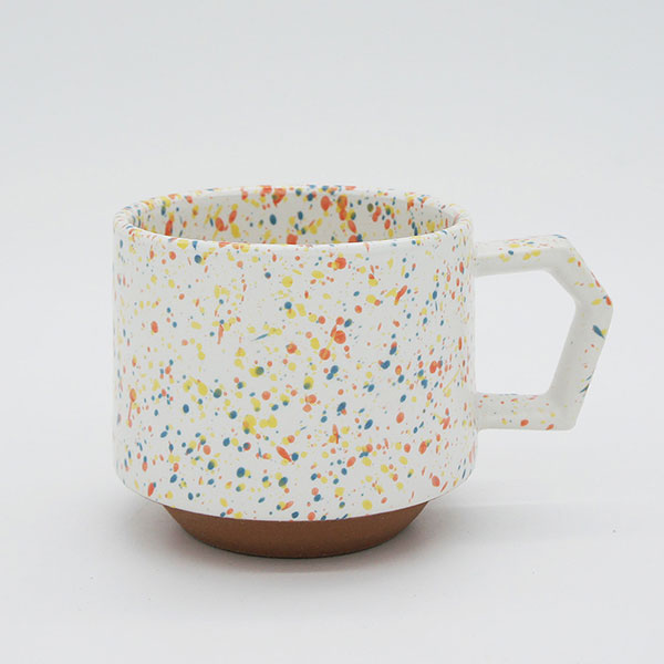 CHIPS stack mug. SPLASH White-Orange [No.CS002]