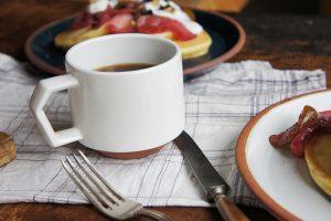 CHIPS stack mug. SOLID COLOR White [No.CS008]