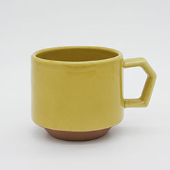 Chips Stack Mug Solid Color Mustard