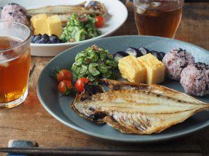 Cafe Plate L Blue カフェプレート L ブルー
