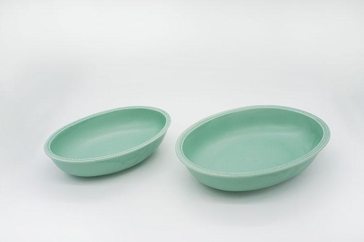 Rim Dots Oval Bowl Green - リムドット オーバルボウル グリーン