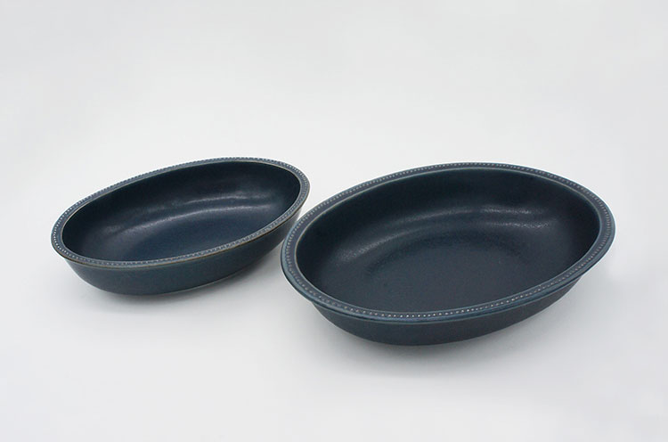Rim Dots Oval Bowl Mocha - リムドット オーバルボウル モカ