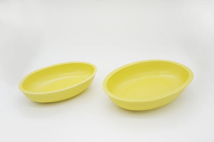 Rim Dots Oval Bowl Yellow - リムドット オーバルボウル イエロー