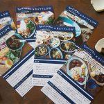 【お知らせ】金曜日から始まるBayflowでのパンとごはんと…のPop Upイベントでは、菱沼未央さんのアレンジレシピや盛り付け例が書かれたカードが配られます。