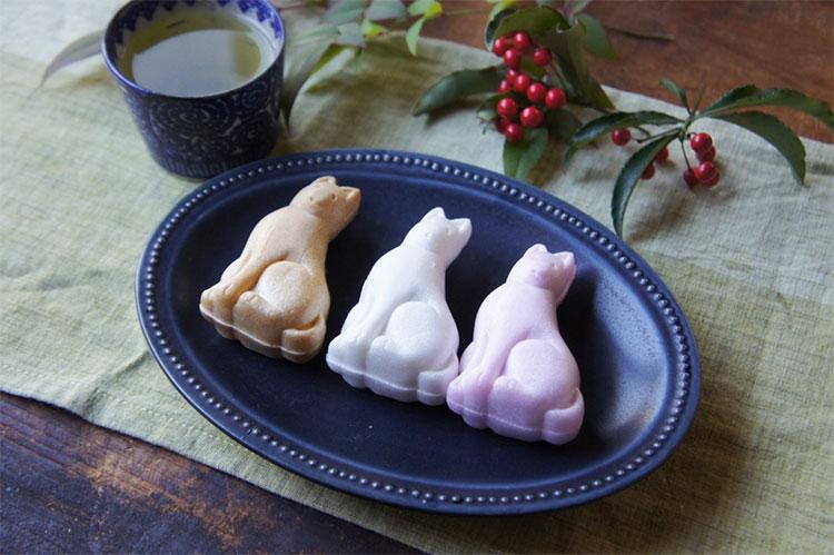 今年の干支の犬の和菓子