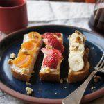 【スタッフのBlog】フルーツトーストで食卓が華やかな春のようになりました。