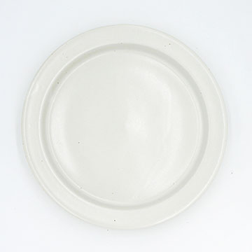 Ancient Pottery White Plate L