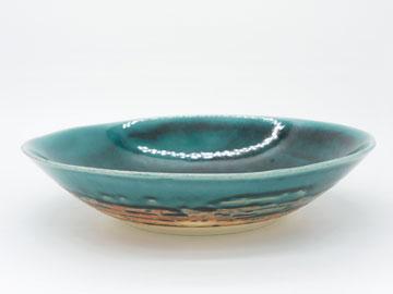 Grossy Pottery Bowl L Turkish Blue 艶釉の器ボウルLトルコブルー