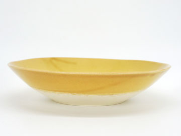Grossy Pottery Bowl L Mont Blanc 艶釉の器ボウルLモンブラン