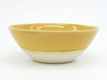 Grossy Pottery Bowl M Mont Blanc 艶釉の器ボウルMモンブラン
