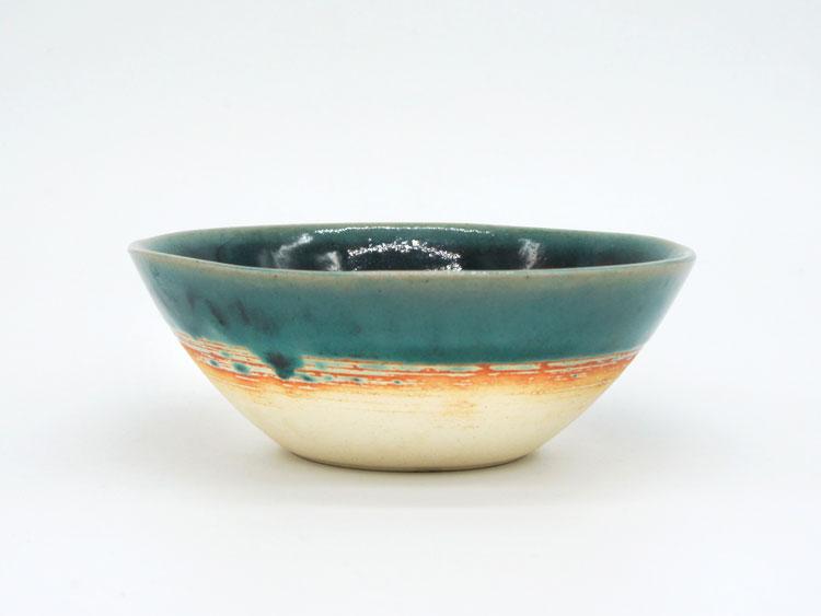 Grossy Pottery Bowlm Turkish Blue 艶釉の器ボウルMトルコブルー