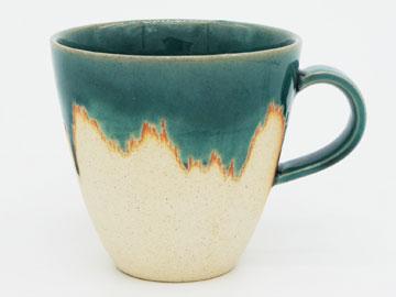 Grossy Pottery Mug Cup Turkish Blue 艶釉の器マグカップトルコブルー