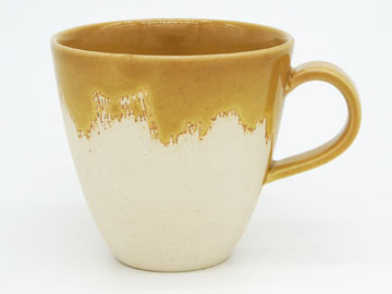 Grossy Pottery Mug Cup Mont Blanc 艶釉の器マグカップモンブラン