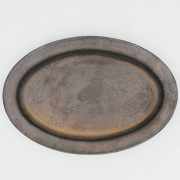 Ancient Pottery Brass Oval Plate