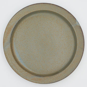 Ancient Pottery Gray Plate L