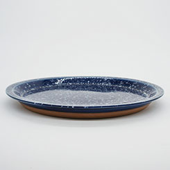 CHIPS PLATE SPLASH No.CP002nw Navy-White