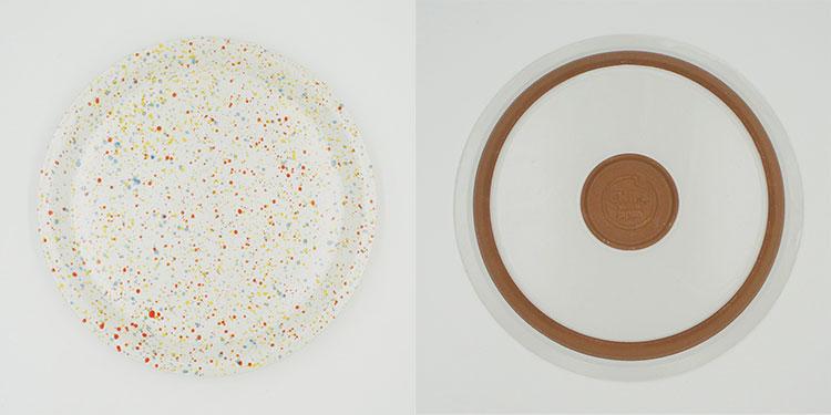 CHIPS plate. SPLASH White-Orange [NoCP002wo]