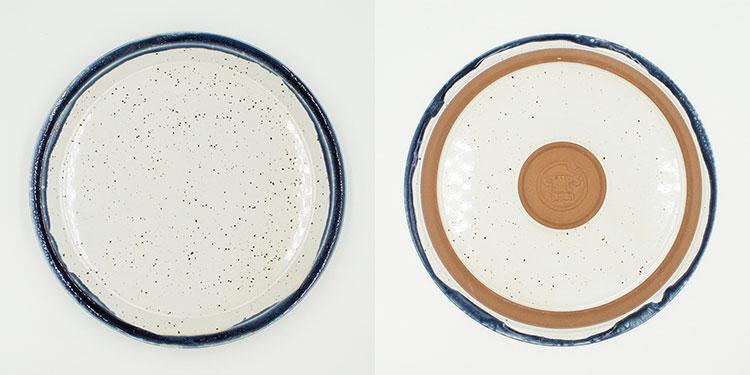 CHIPS plate. PREMIUM White-Navy Drop [NoCP006]