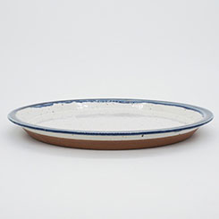 CHIPS PLATE PREMIUM No.CP006 White-Navy Drop