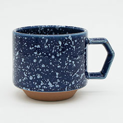 CHIPS stack mug. SPLASH navy-white [No.CS002nw]